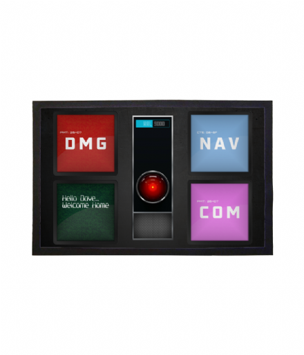 HAL 9000 A Space Odyssey Personalised Doormat Welcome Mat